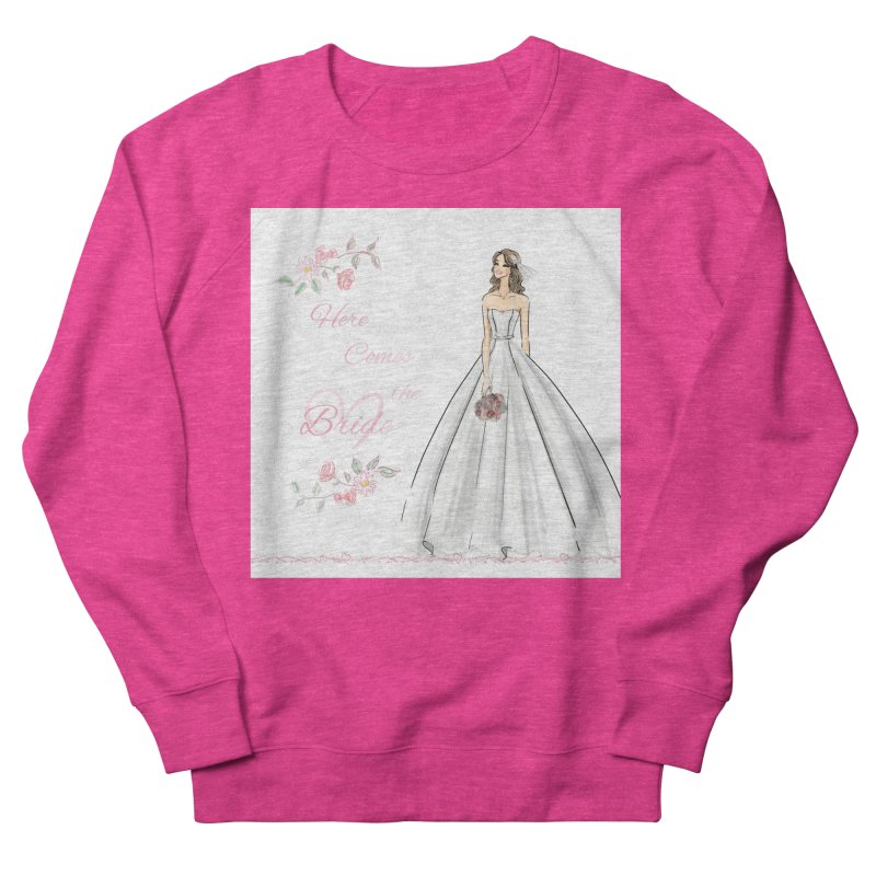 Here Comes The Bride- Light Women's French Terry Sweatshirt by Deanna Kei's Artist Shop