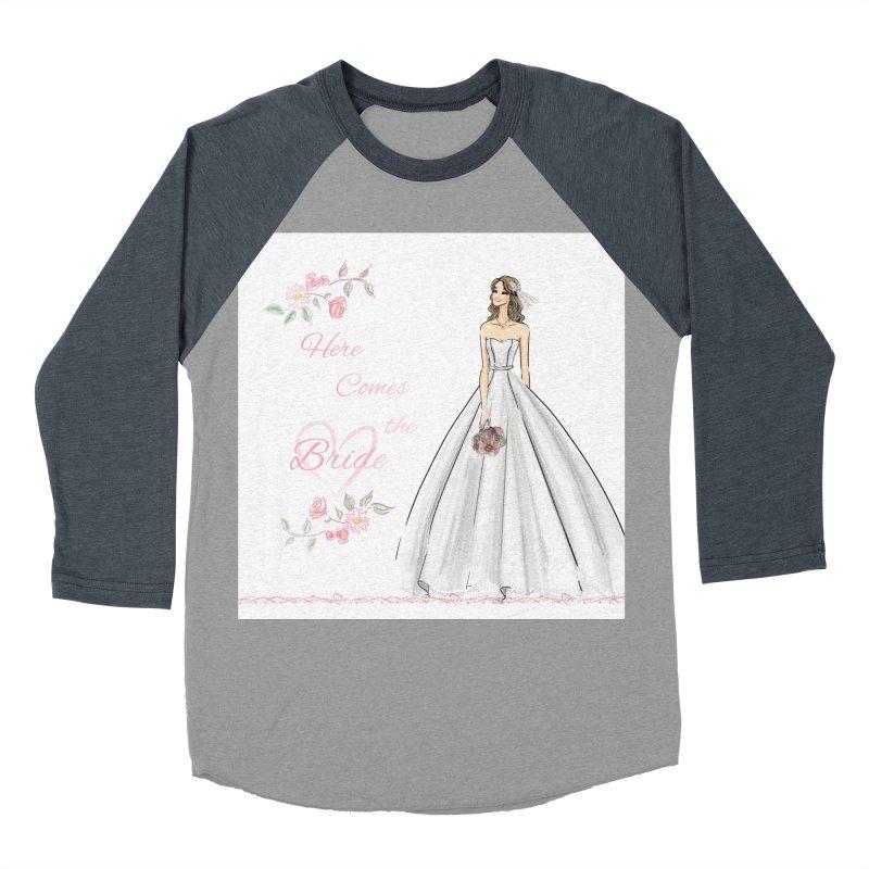Here Comes The Bride- Light Women's Baseball Triblend Longsleeve T-Shirt by deannakei's Artist Shop
