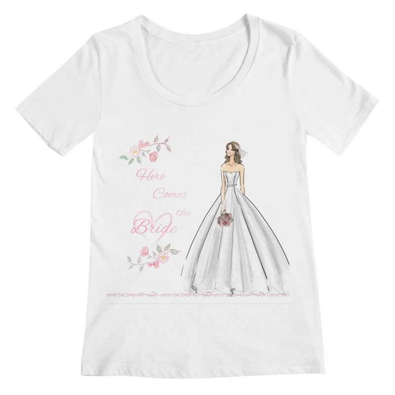Here Comes The Bride- Light Women's Regular Scoop Neck by deannakei's Artist Shop