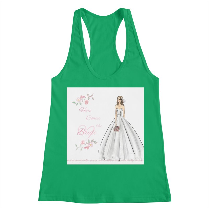 Here Comes The Bride- Light Women's Racerback Tank by Deanna Kei's Artist Shop