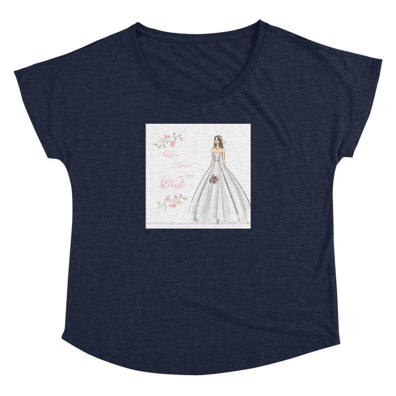 Here Comes The Bride- Light Women's Dolman Scoop Neck by Deanna Kei's Artist Shop