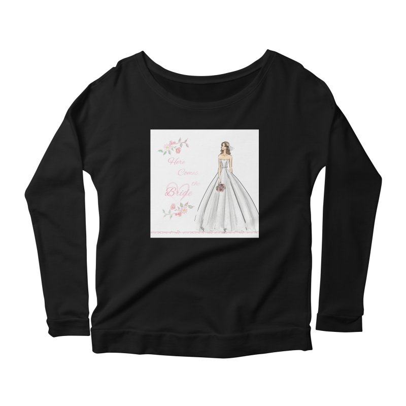 Here Comes The Bride- Light Women's Scoop Neck Longsleeve T-Shirt by Deanna Kei's Artist Shop