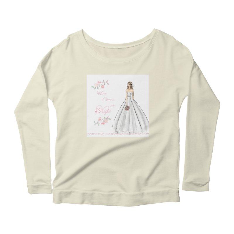 Here Comes The Bride- Light Women's Scoop Neck Longsleeve T-Shirt by deannakei's Artist Shop