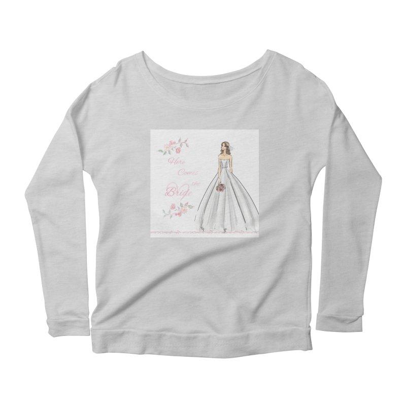 Here Comes The Bride- Light Women's Scoop Neck Longsleeve T-Shirt by Deanna Kei's Artist Shop