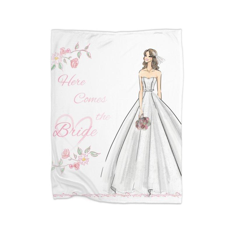 Here Comes The Bride- Light Home Fleece Blanket Blanket by deannakei's Artist Shop