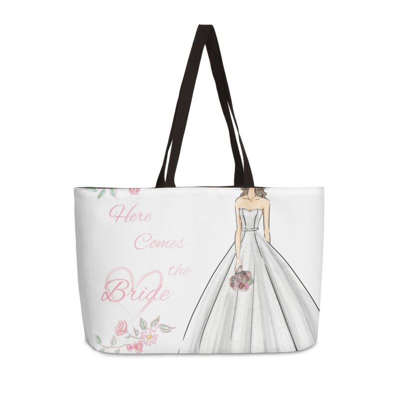 Here Comes The Bride- Light Accessories Weekender Bag Bag by deannakei's Artist Shop