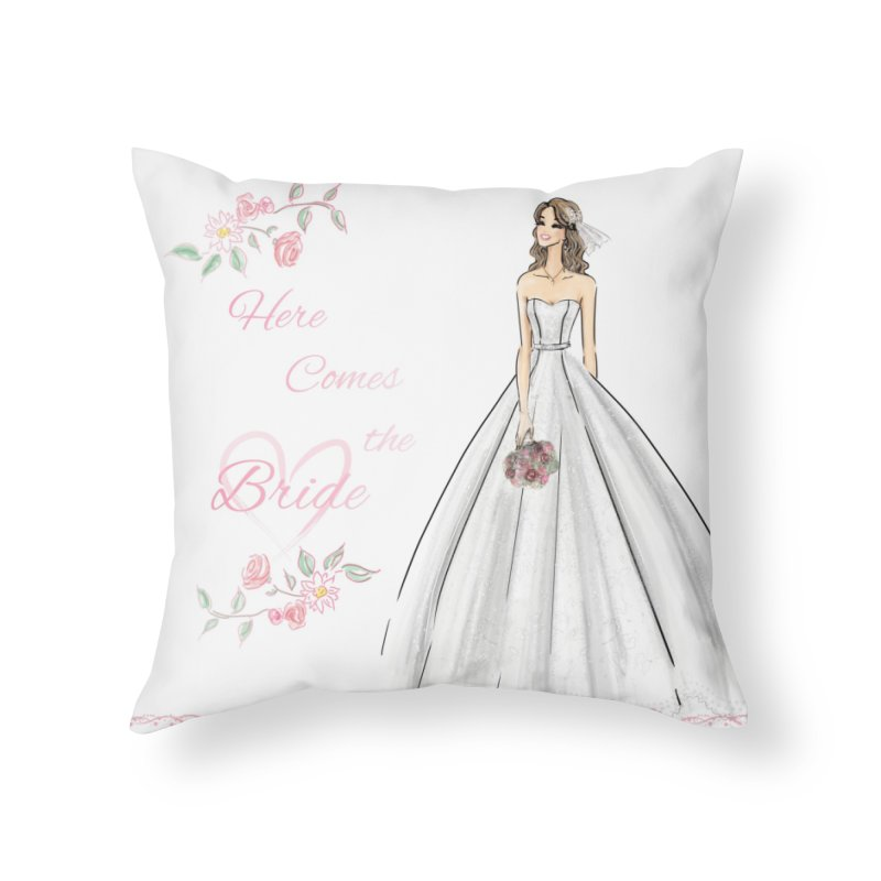 Here Comes The Bride- Light Home Throw Pillow by deannakei's Artist Shop