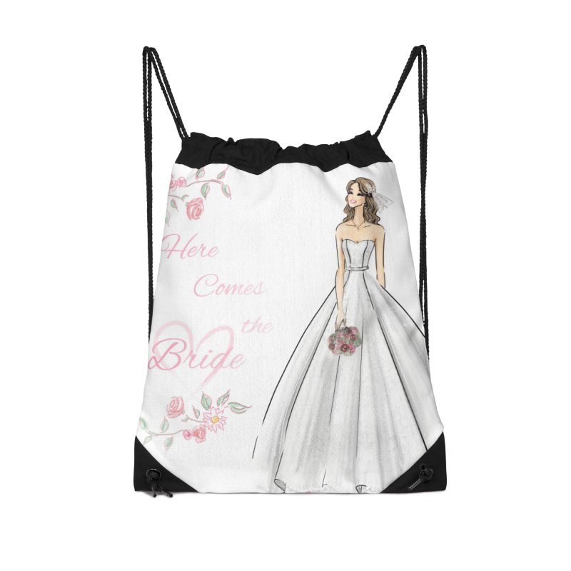 Here Comes The Bride- Light Accessories Drawstring Bag Bag by deannakei's Artist Shop