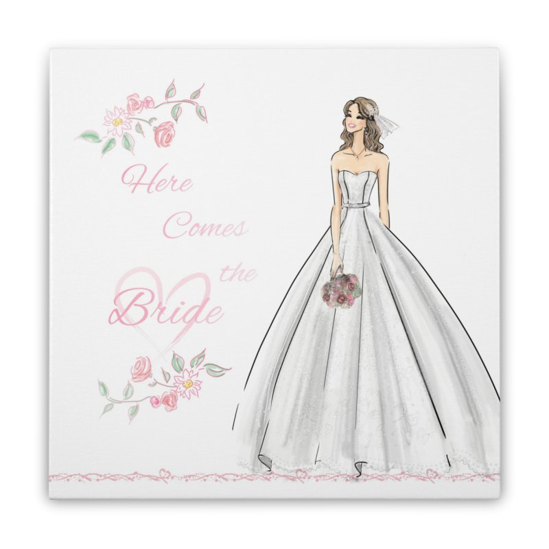 Here Comes The Bride- Light Home Stretched Canvas by deannakei's Artist Shop