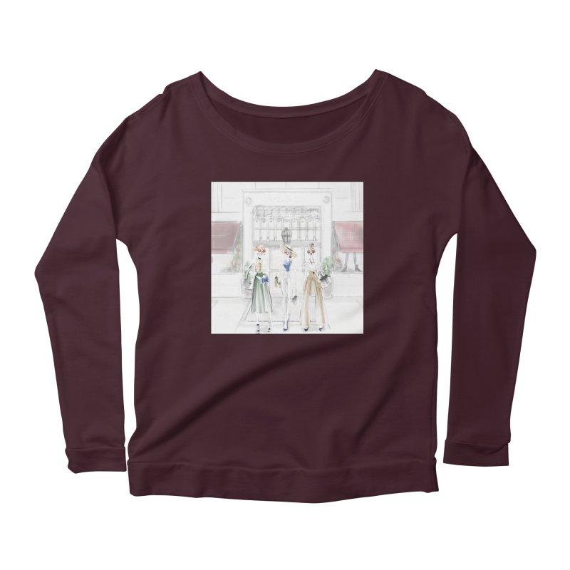 5th Avenue Girls Women's Scoop Neck Longsleeve T-Shirt by deannakei's Artist Shop