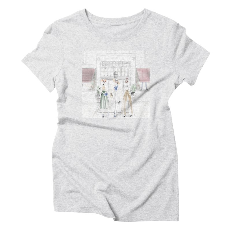 5th Avenue Girls Women's Triblend T-Shirt by deannakei's Artist Shop