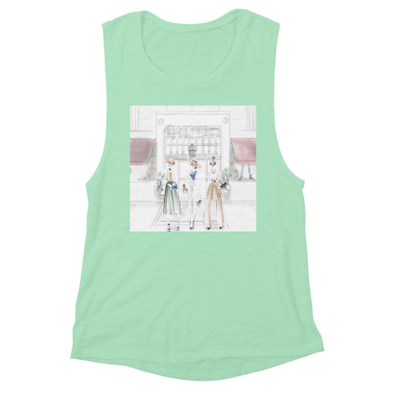 5th Avenue Girls Women's Muscle Tank by deannakei's Artist Shop