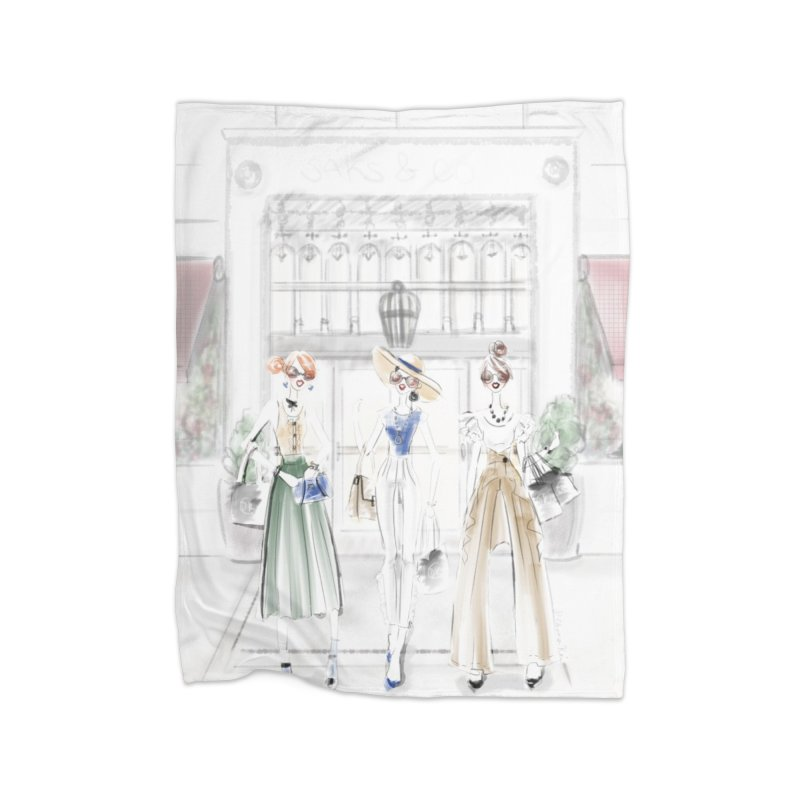 5th Avenue Girls Home Fleece Blanket Blanket by deannakei's Artist Shop