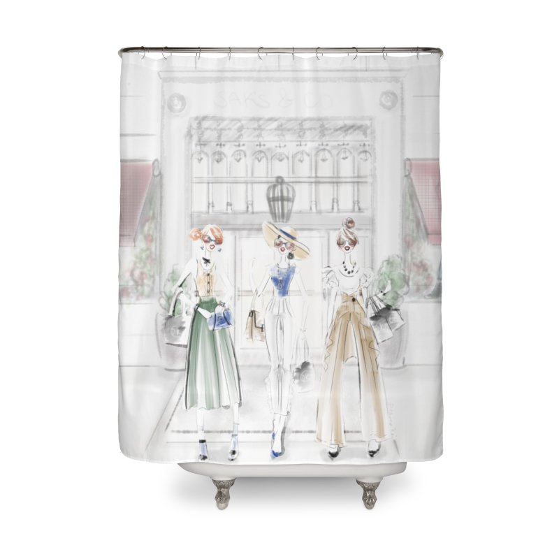 5th Avenue Girls Home Shower Curtain by deannakei's Artist Shop