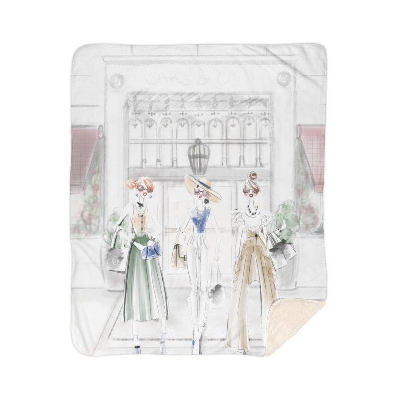 5th Avenue Girls Home Sherpa Blanket Blanket by deannakei's Artist Shop