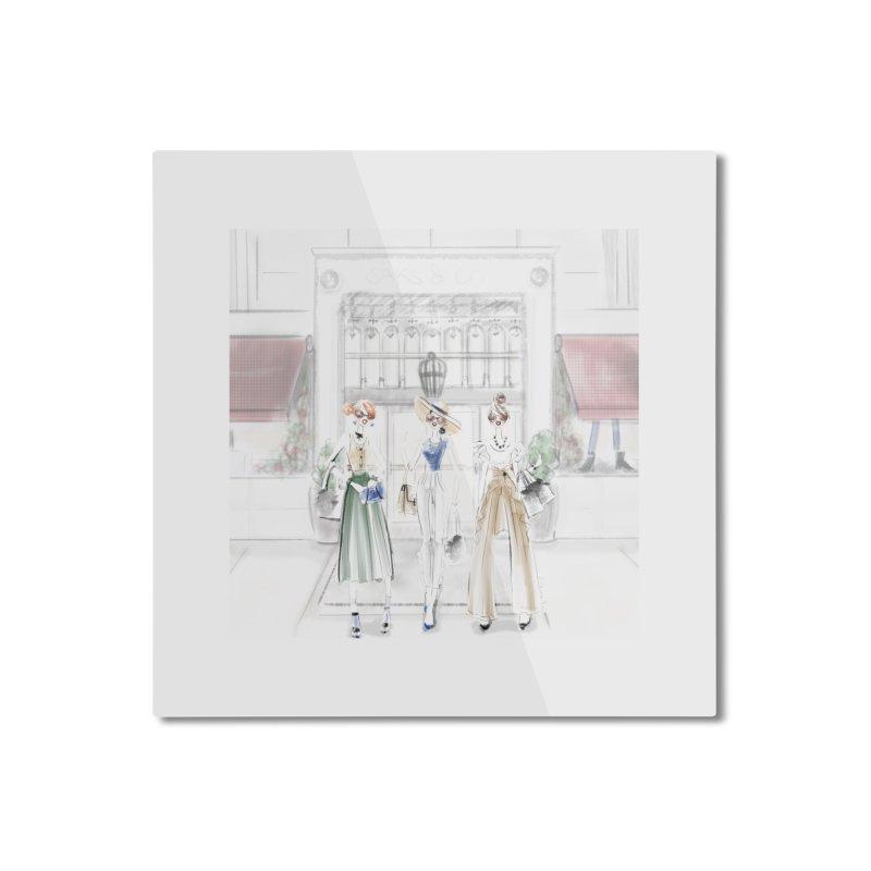 5th Avenue Girls Home Mounted Aluminum Print by deannakei's Artist Shop