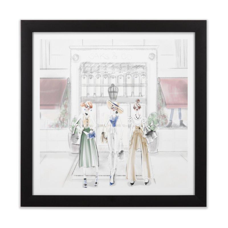 5th Avenue Girls Home Framed Fine Art Print by deannakei's Artist Shop
