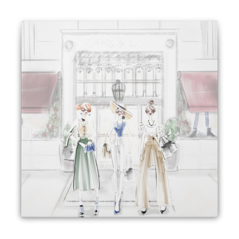 5th Avenue Girls Home Stretched Canvas by deannakei's Artist Shop