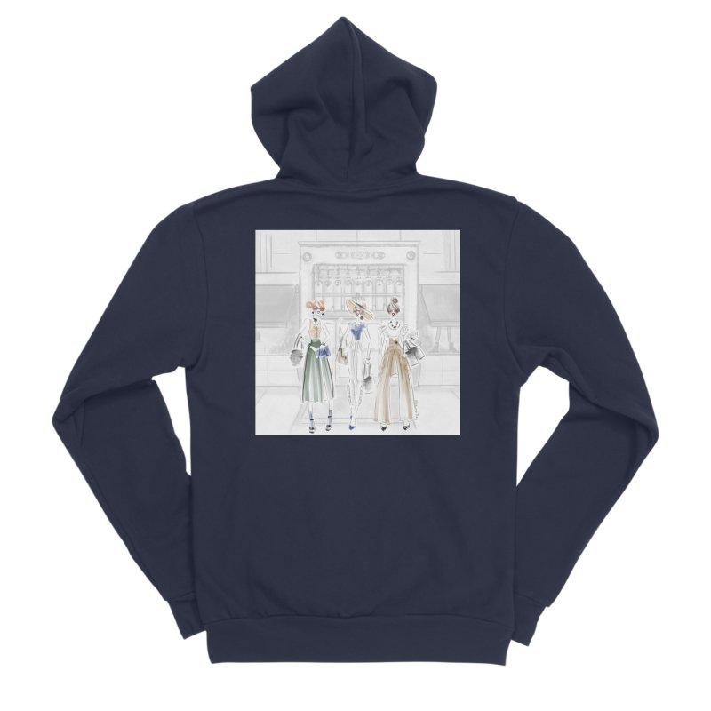 5th Avenue Girls Men's Sponge Fleece Zip-Up Hoody by deannakei's Artist Shop