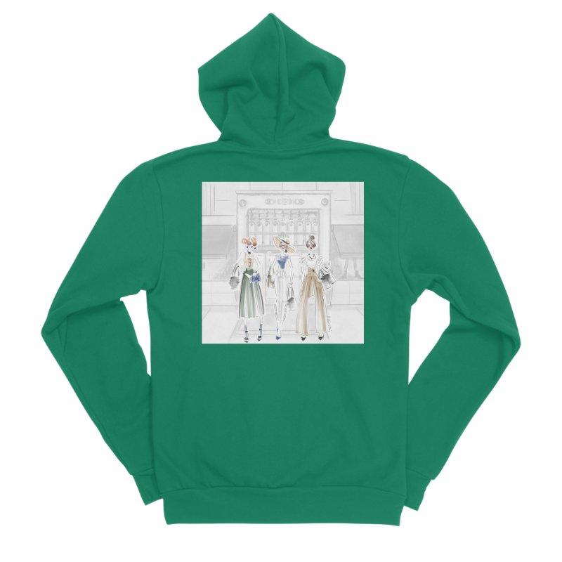5th Avenue Girls Men's Sponge Fleece Zip-Up Hoody by Deanna Kei's Artist Shop