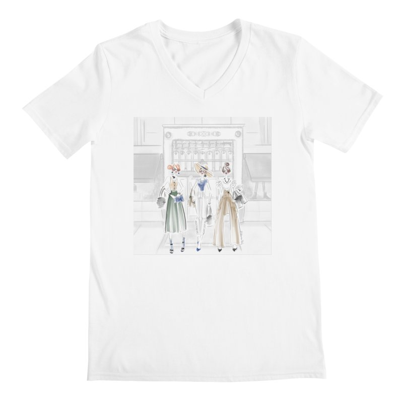5th Avenue Girls Men's V-Neck by Deanna Kei's Artist Shop