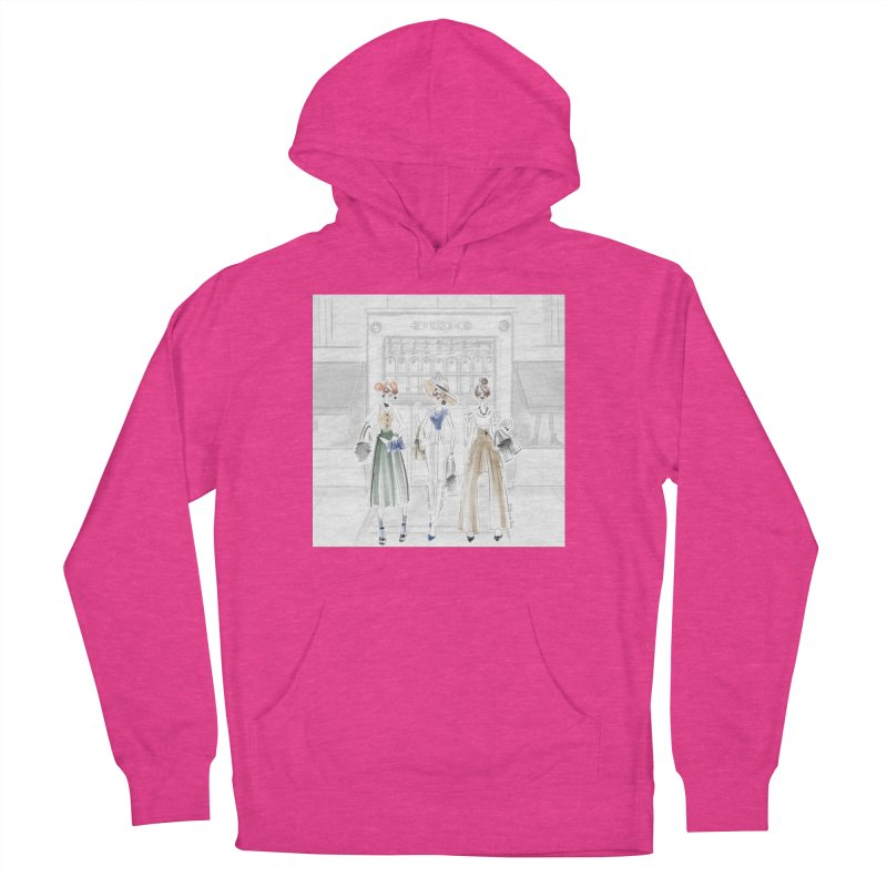 5th Avenue Girls Men's French Terry Pullover Hoody by deannakei's Artist Shop