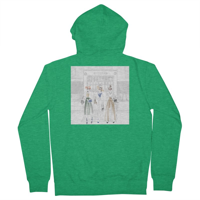 5th Avenue Girls Women's French Terry Zip-Up Hoody by deannakei's Artist Shop