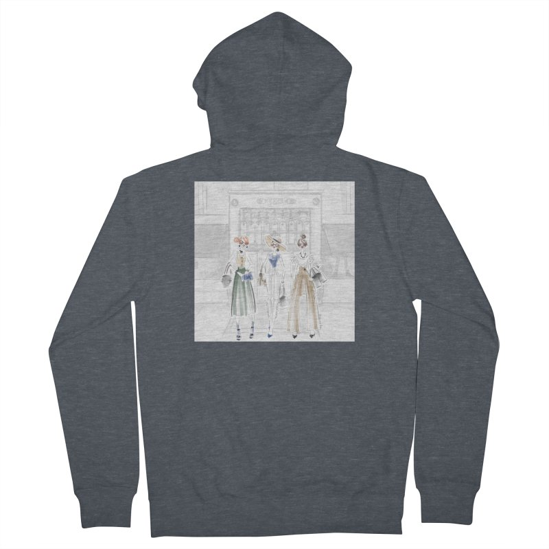 5th Avenue Girls Men's French Terry Zip-Up Hoody by Deanna Kei's Artist Shop