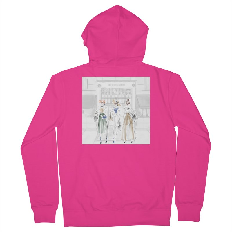 5th Avenue Girls Men's French Terry Zip-Up Hoody by deannakei's Artist Shop