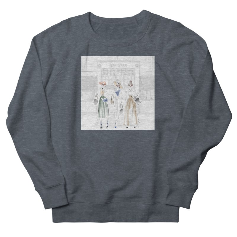 5th Avenue Girls Men's French Terry Sweatshirt by Deanna Kei's Artist Shop