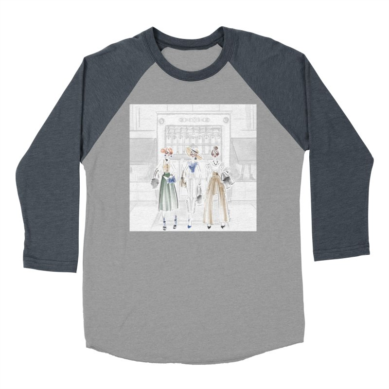 5th Avenue Girls Men's Baseball Triblend Longsleeve T-Shirt by deannakei's Artist Shop