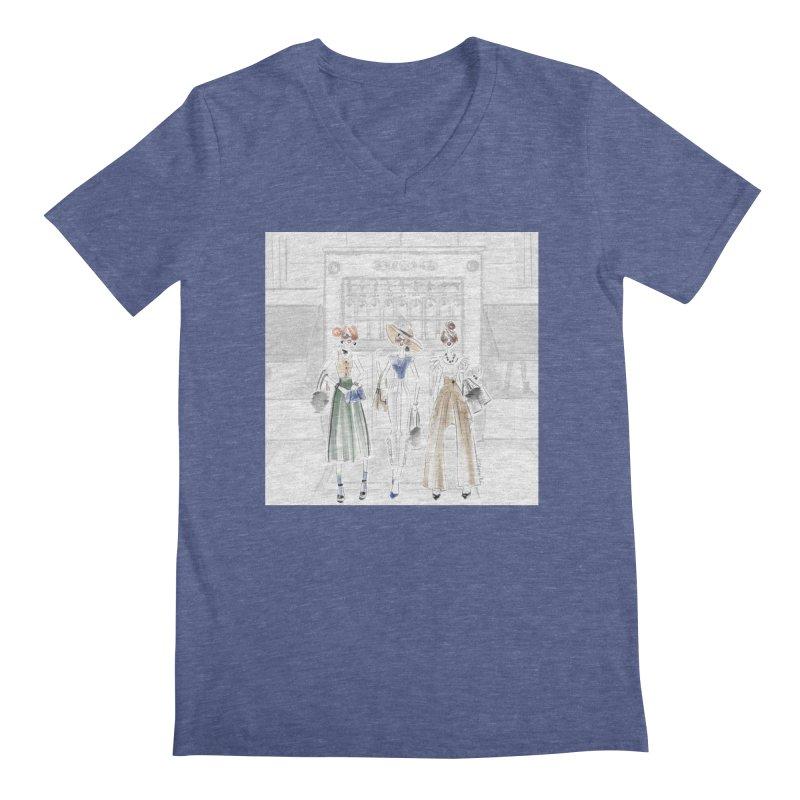 5th Avenue Girls Men's Regular V-Neck by Deanna Kei's Artist Shop