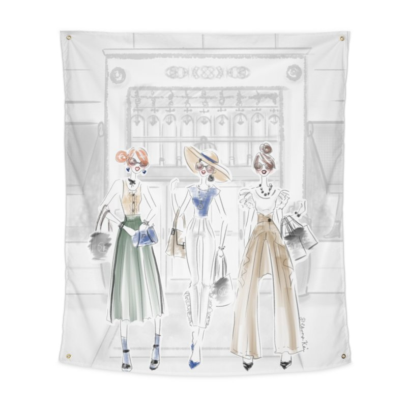 5th Avenue Girls Home Tapestry by Deanna Kei's Artist Shop