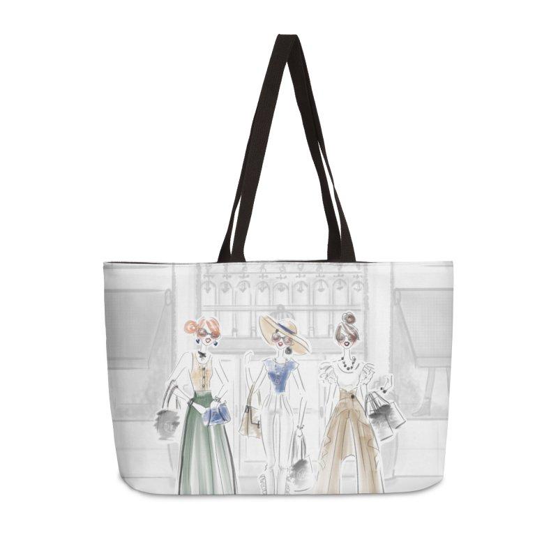 5th Avenue Girls in Weekender Bag by Deanna Kei's Artist Shop