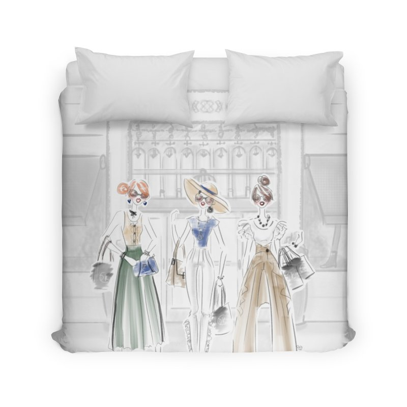 5th Avenue Girls Home Duvet by Deanna Kei's Artist Shop