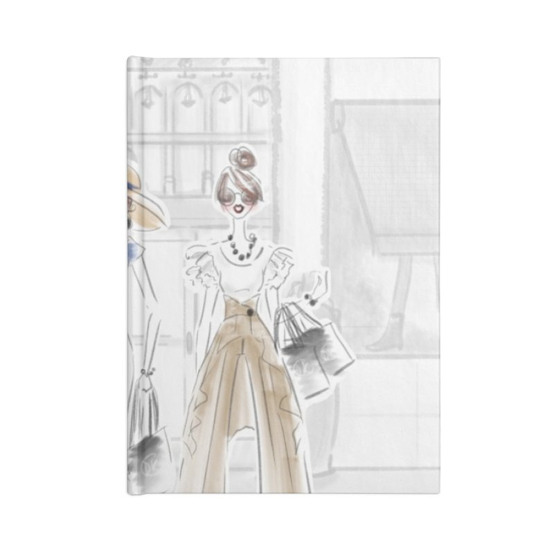 5th Avenue Girls Accessories Notebook by Deanna Kei's Artist Shop