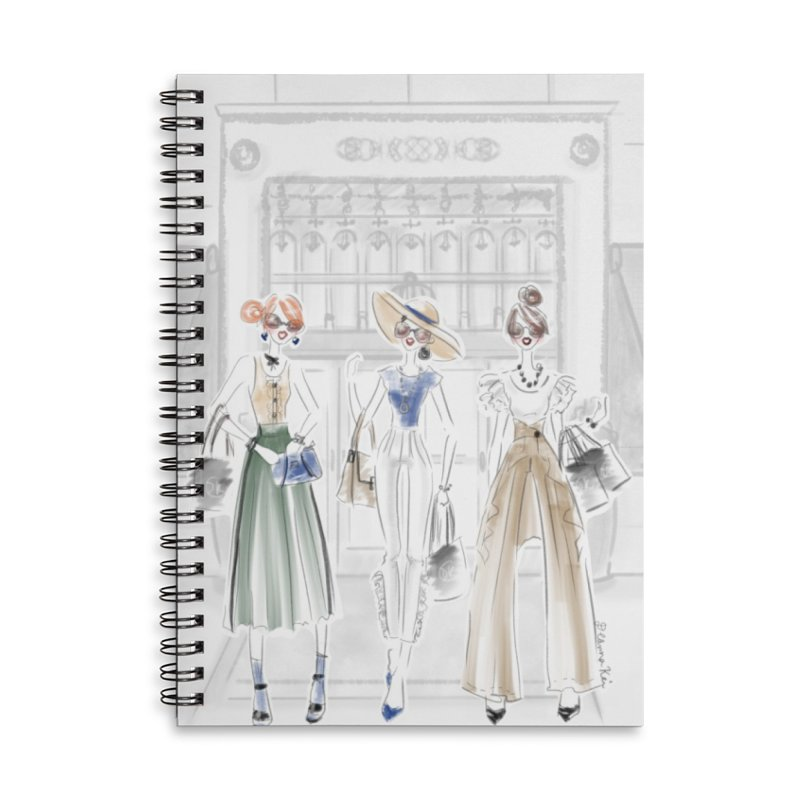 5th Avenue Girls Accessories Lined Spiral Notebook by Deanna Kei's Artist Shop