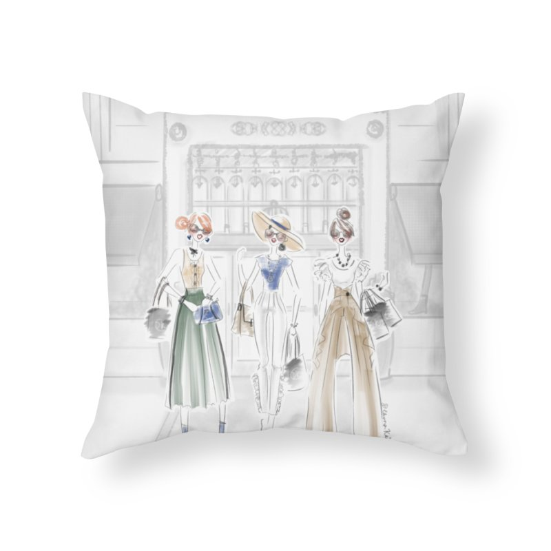 5th Avenue Girls Home Throw Pillow by deannakei's Artist Shop