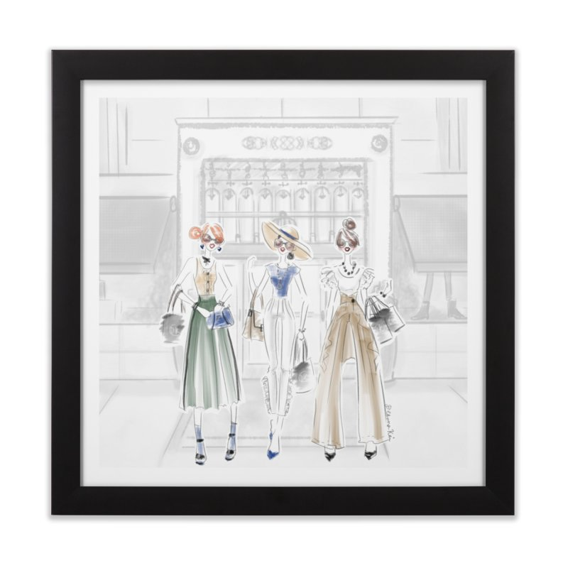 5th Avenue Girls Home Framed Fine Art Print by deannakei's Artist Shop