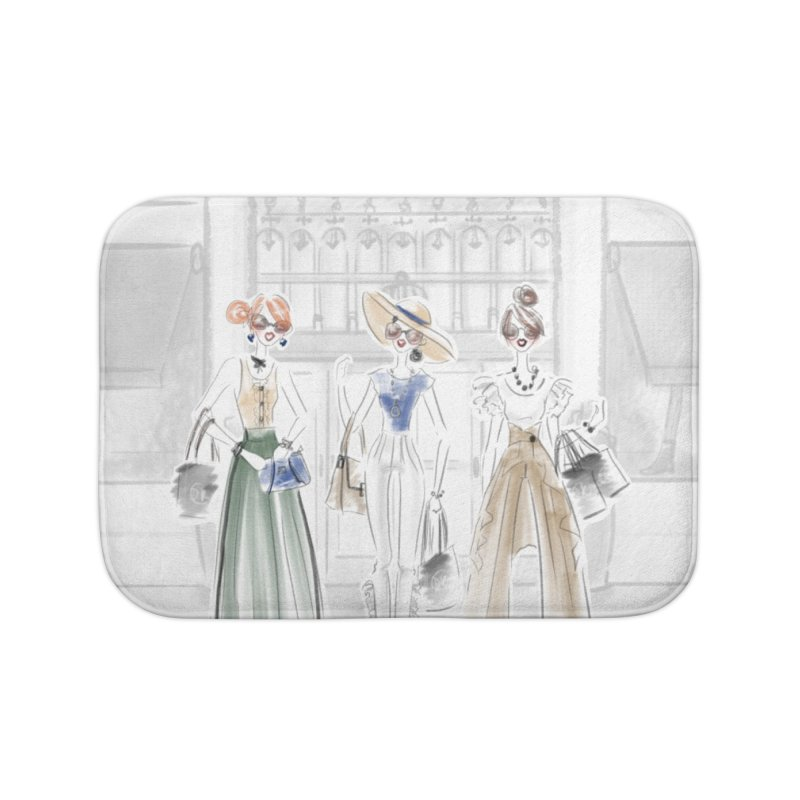 5th Avenue Girls Home Bath Mat by Deanna Kei's Artist Shop