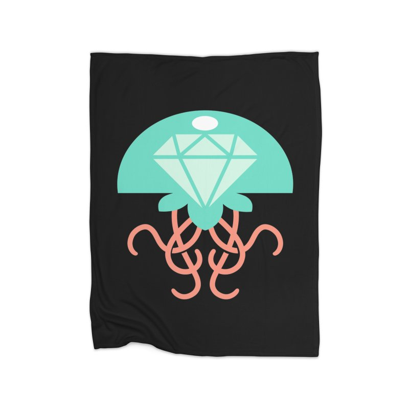 Jeweled Jungle Jellyfish Home Blanket by deantrippe's Artist Shop
