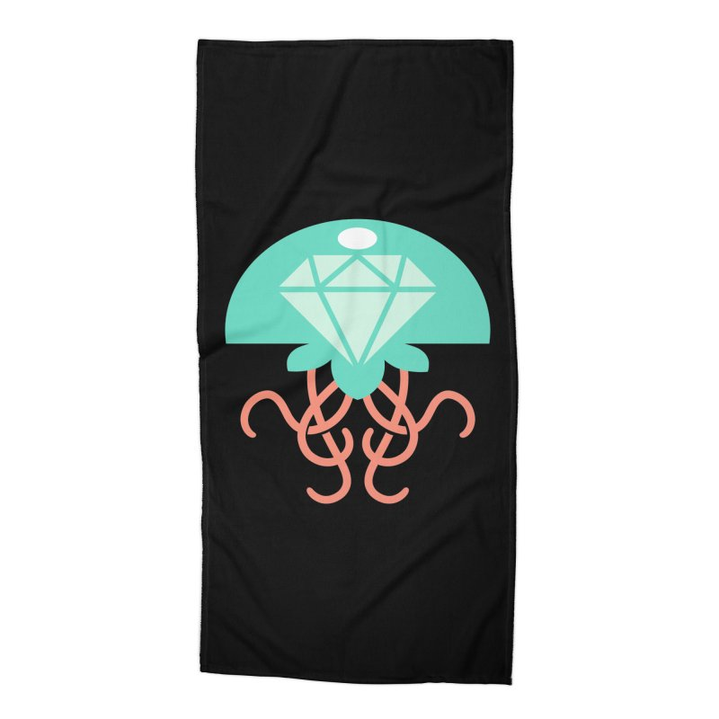 Jeweled Jungle Jellyfish Accessories Beach Towel by deantrippe's Artist Shop