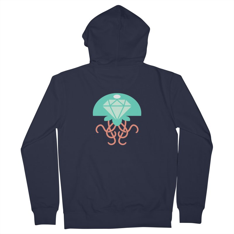 Jeweled Jungle Jellyfish Men's Zip-Up Hoody by deantrippe's Artist Shop