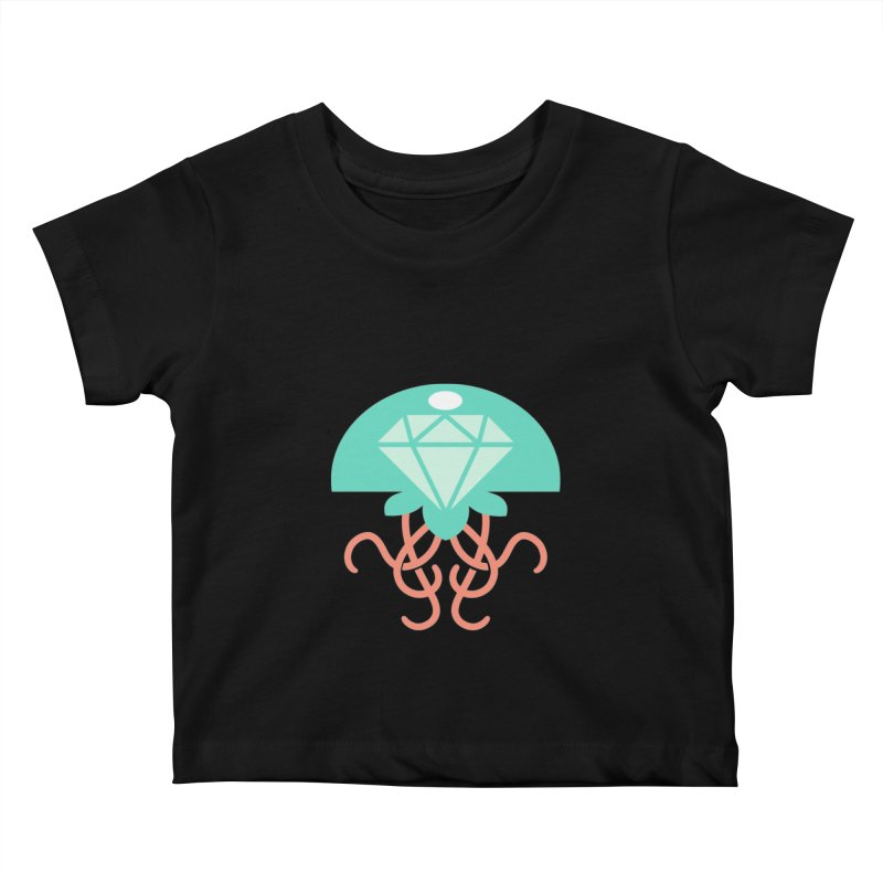 Jeweled Jungle Jellyfish Kids Baby T-Shirt by deantrippe's Artist Shop