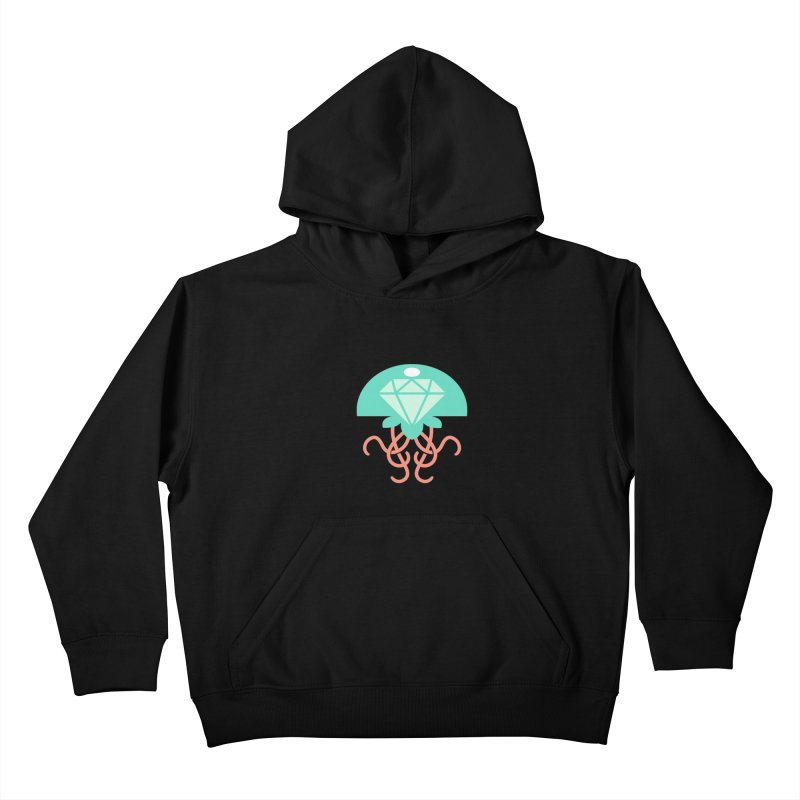 Jeweled Jungle Jellyfish Kids Pullover Hoody by deantrippe's Artist Shop