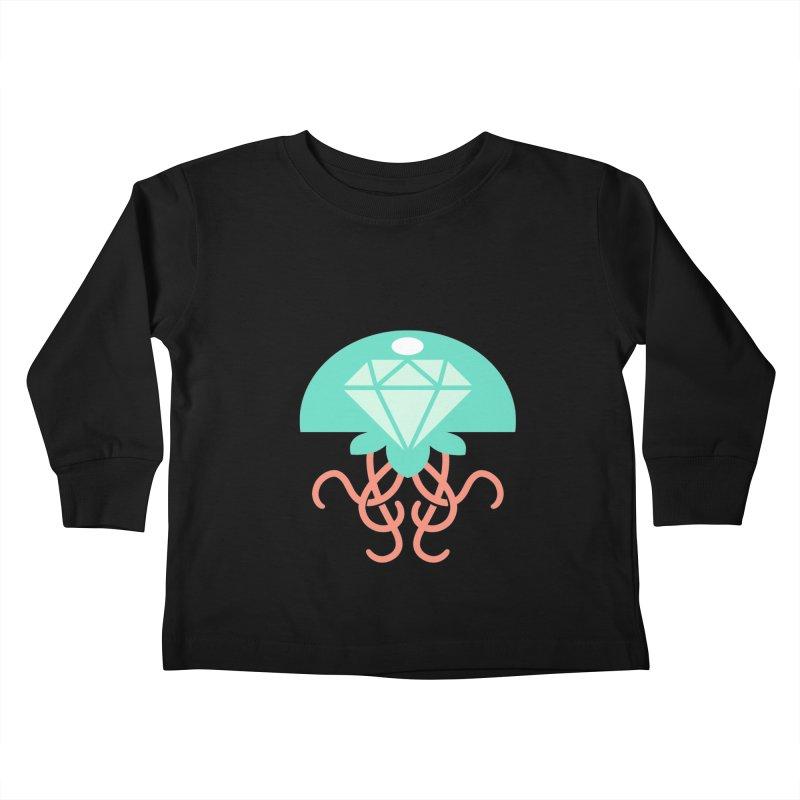 Jeweled Jungle Jellyfish Kids Toddler Longsleeve T-Shirt by deantrippe's Artist Shop
