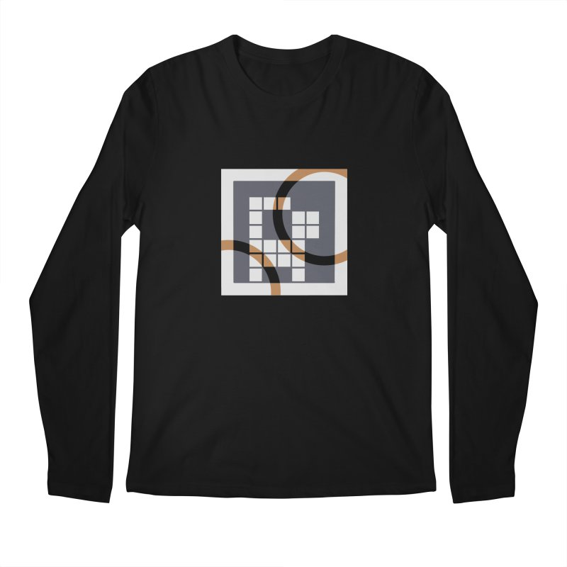 Calico Crossword Cat Men's Longsleeve T-Shirt by deantrippe's Artist Shop