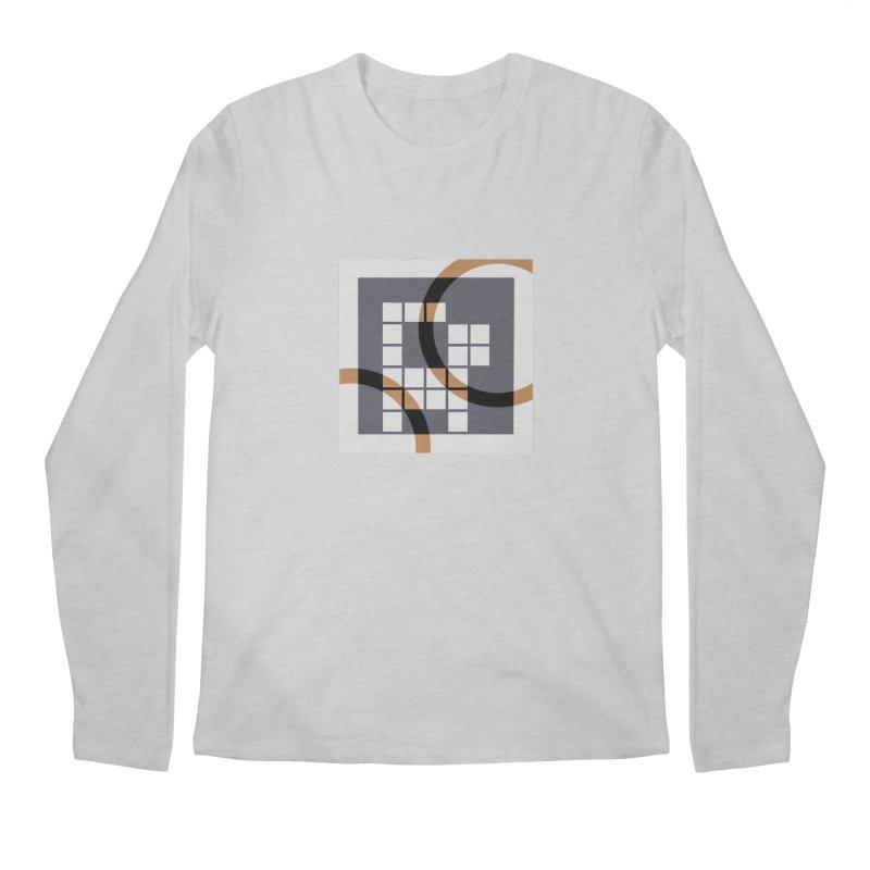 Calico Crossword Cat Men's Longsleeve T-Shirt by deantrippe's Artist Shop