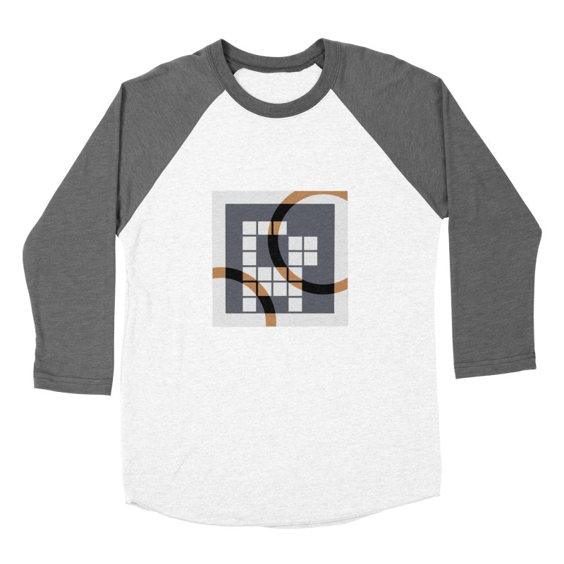 Calico Crossword Cat Women's Baseball Triblend T-Shirt by deantrippe's Artist Shop