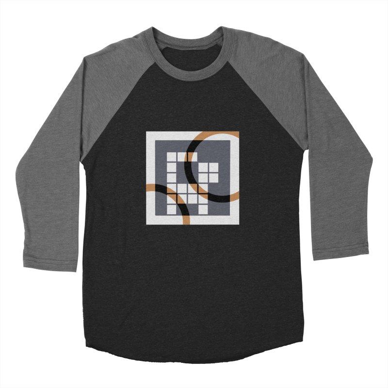 Calico Crossword Cat Men's Baseball Triblend T-Shirt by deantrippe's Artist Shop